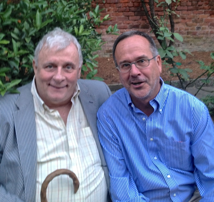 Renowned author Edmund White and Michael Craig at the Saints and Sinner's Literary Festival opening party at the historic Hermann-Grima House