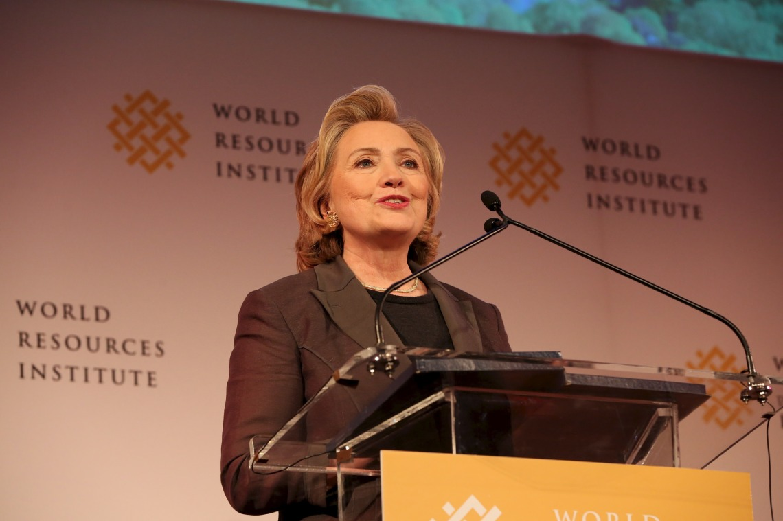 Hillary Clinton speaking at WRI's Courage to Lead Luncheon, New York, NY, June 12