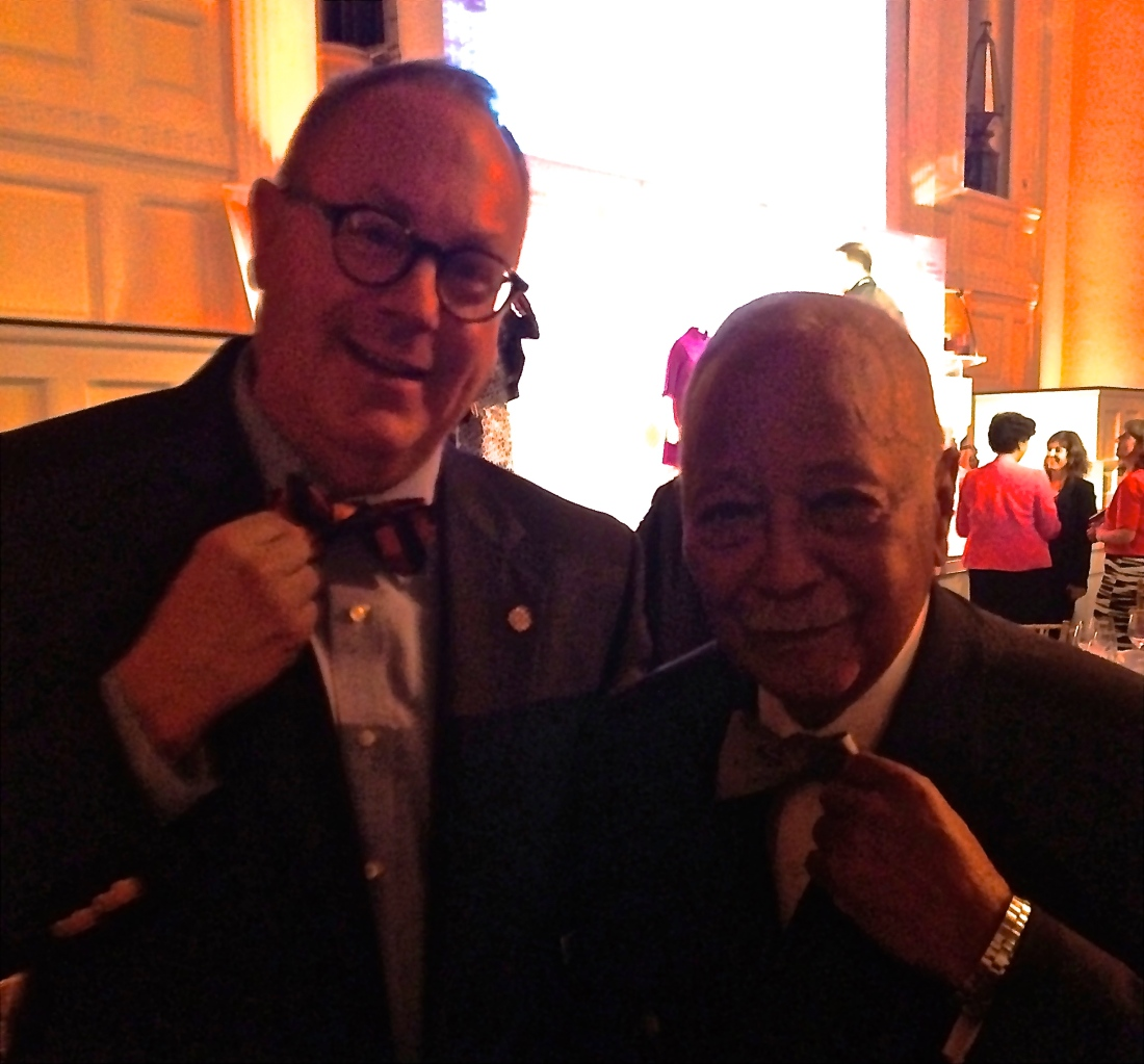 Me and former NYC Mayor David Dinkins tugging the bow tie.