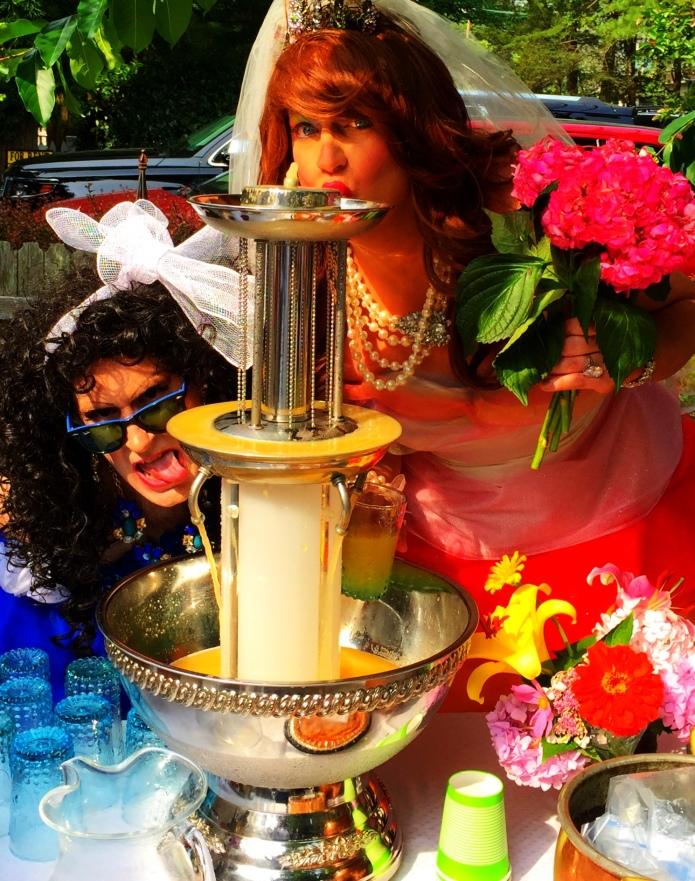 Classic champagne fountain